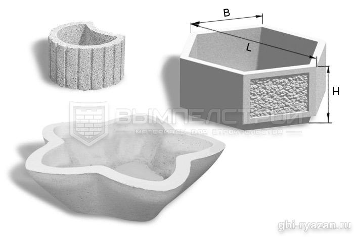Цветочницы из бетона купить в рязани бетон адреса в москве